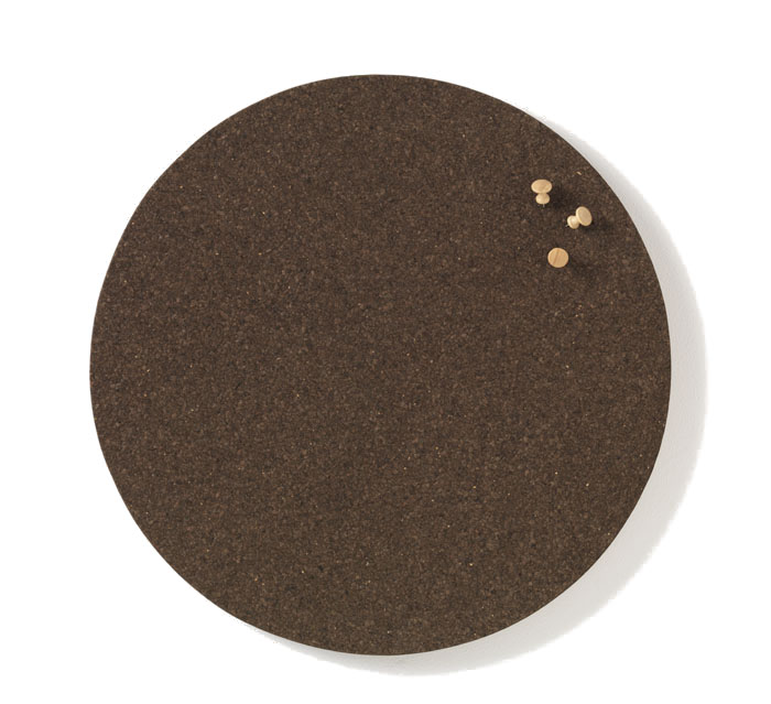 NAGA TABLICA 45 cm korkowa okrągła ciemny korek