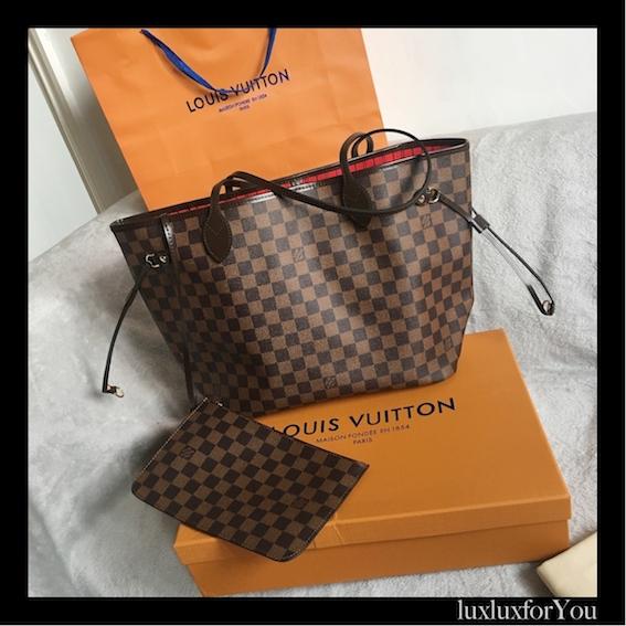 c30e6940bb37a Louis Vuitton Damier Neverfull MM stan idealny! - 7126894378 ...