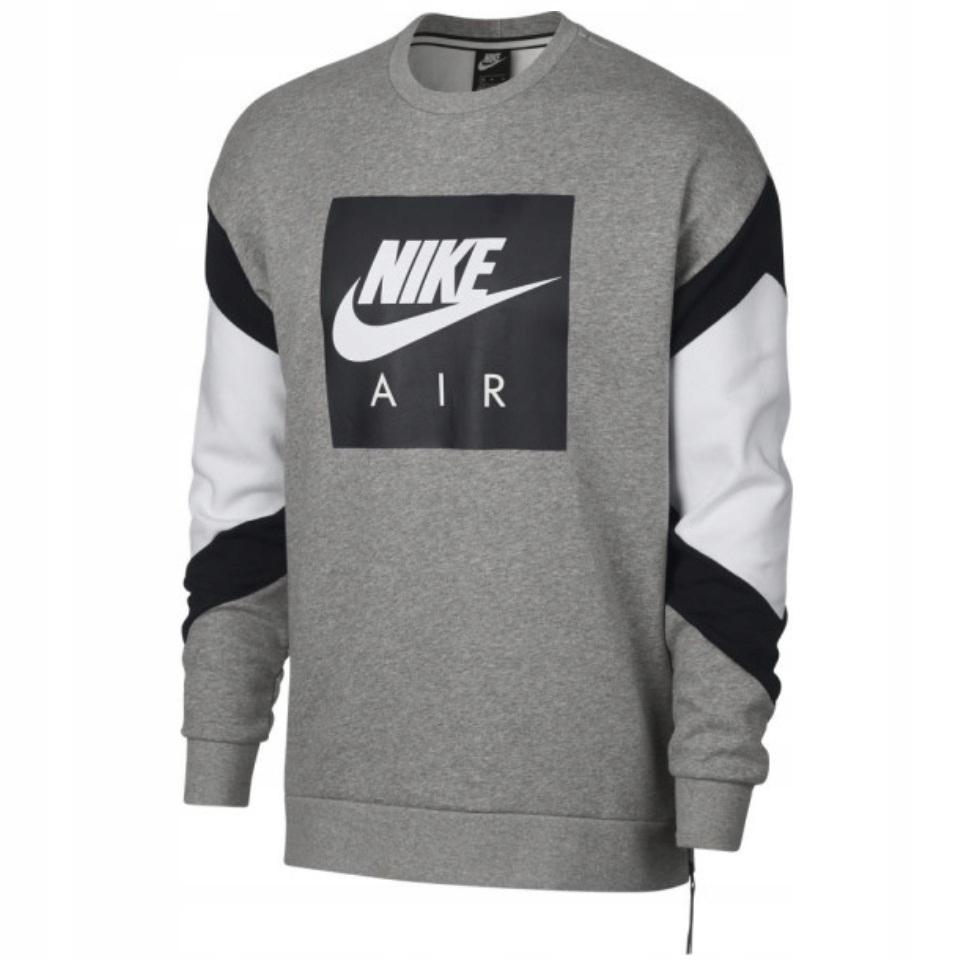 008ab0324 Bluza Męska Nike AIR Crew Fleece 928635-063 -L - 7547528720 ...