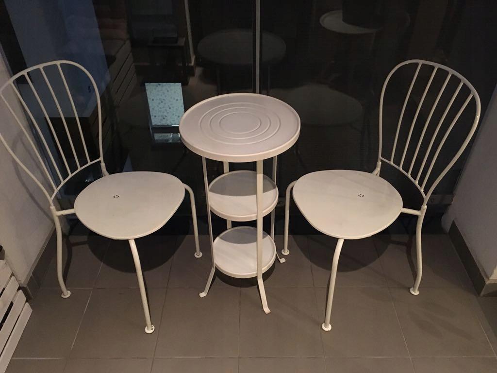 Ikea Meble Na Balkon 2 Metalowe Krzesła I Stolik