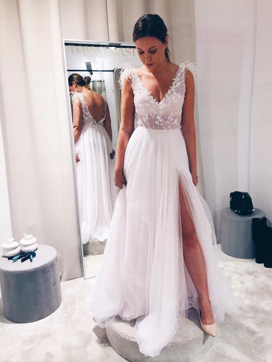 Suknia ślubna Z Kolekcji 2018 Tom Sebastien 7385907662 Oficjalne