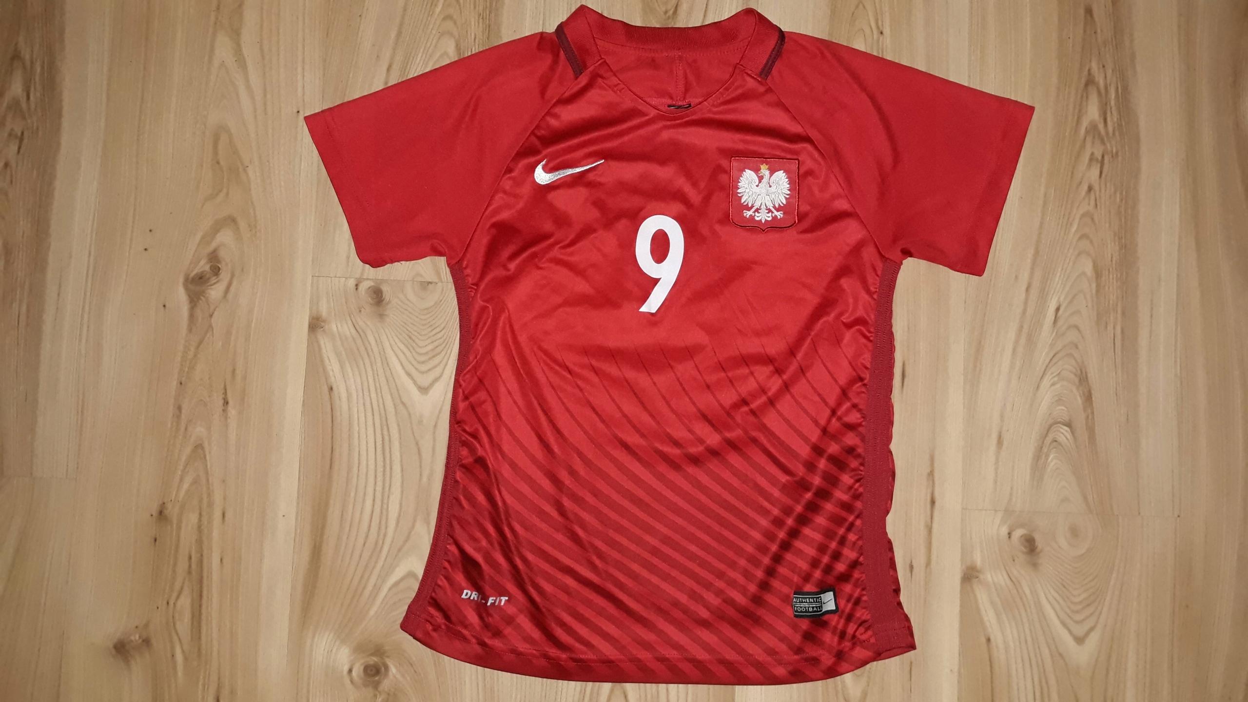 809591b38926 Koszulka Reprezentacji Polski S Nike Lewandowski 9 - 7605514546 - oficjalne  archiwum allegro