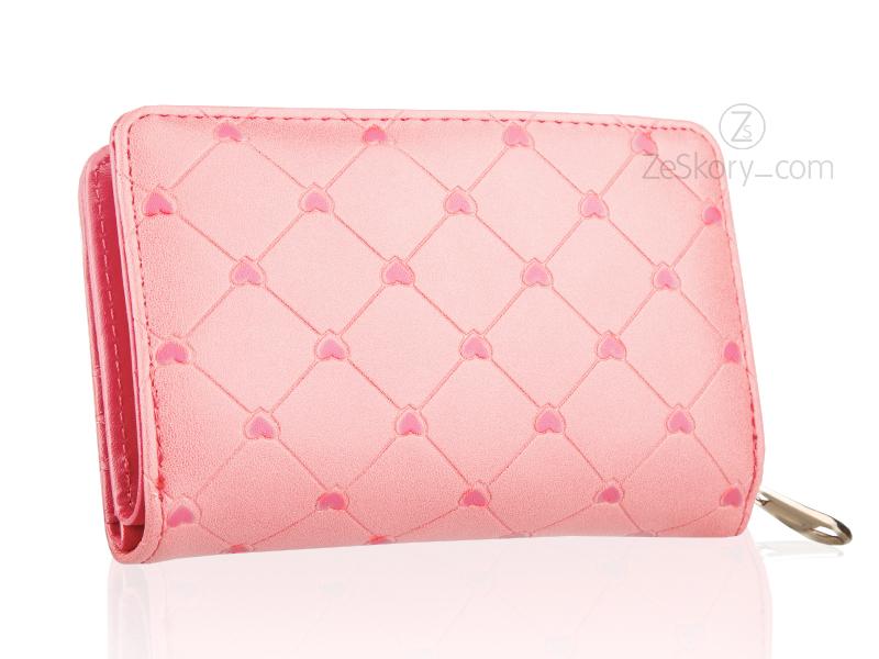 7f397486b21c6 Portfel damski z kokardką pudrowy różowy ekoskóra - 6959774604 ...