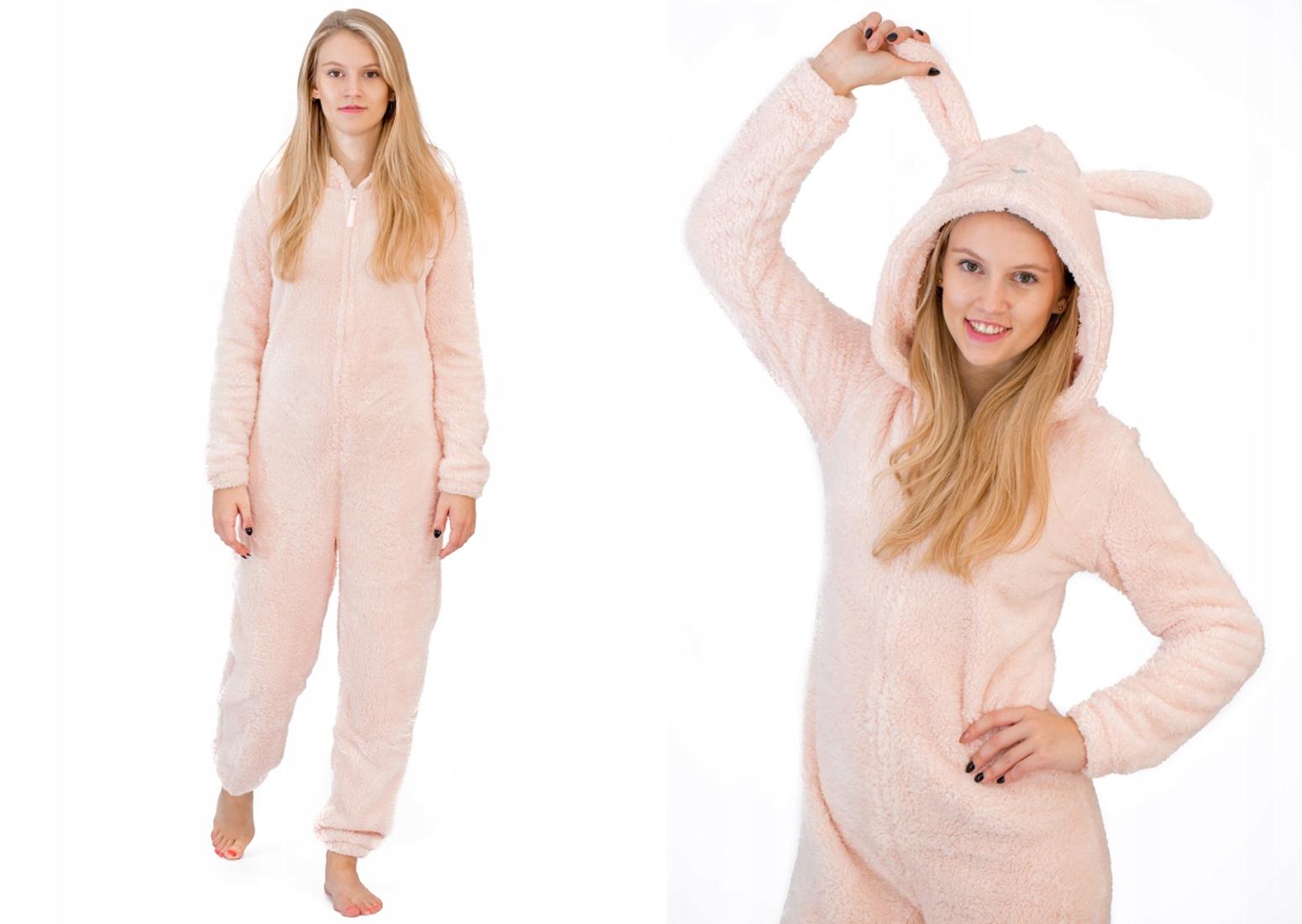 ce73eb05e241f8 ONESIE piżama jednoczęściowa pajac śpioch KRÓLIK L - 6970362366 ...
