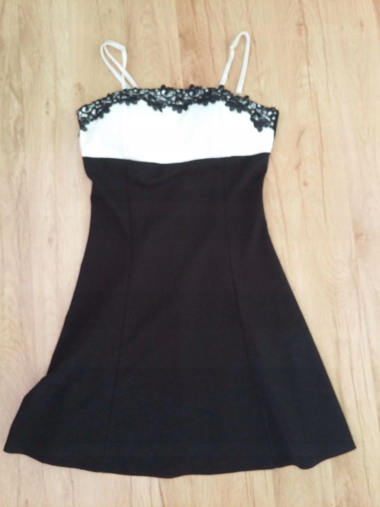 8ace9bb880 Sukienka czarno biała - 7498022936 - oficjalne archiwum allegro