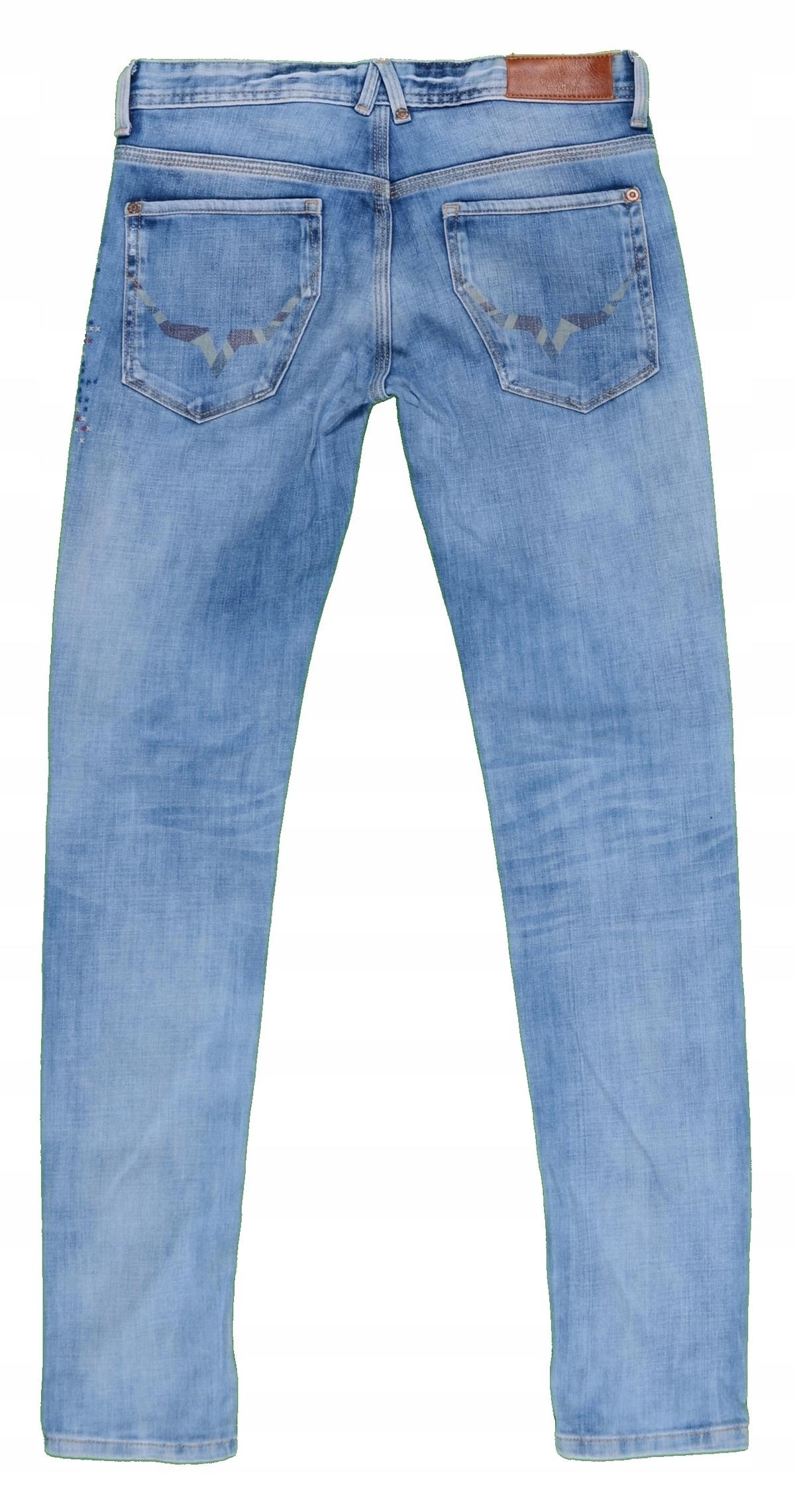 adac54e3df2cfc PEPE JEANS jeansy ze streczem rurki r. 36 MISIZM - 7539792461 ...