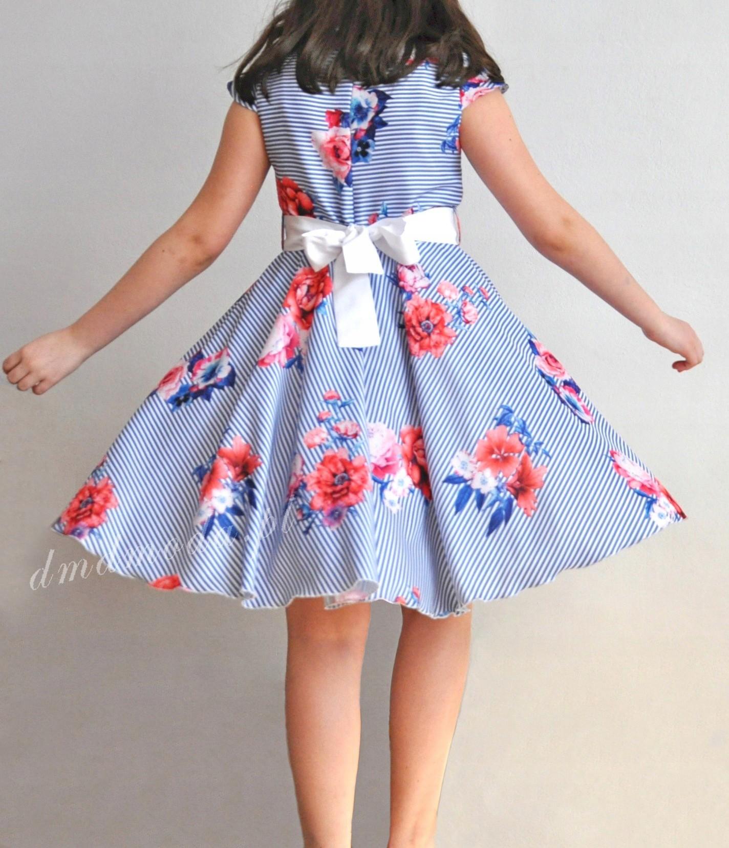 e0f10f6a85 Sukienka letnia dla dziewczynki z koła+ tiul 146 - 7427070459 ...