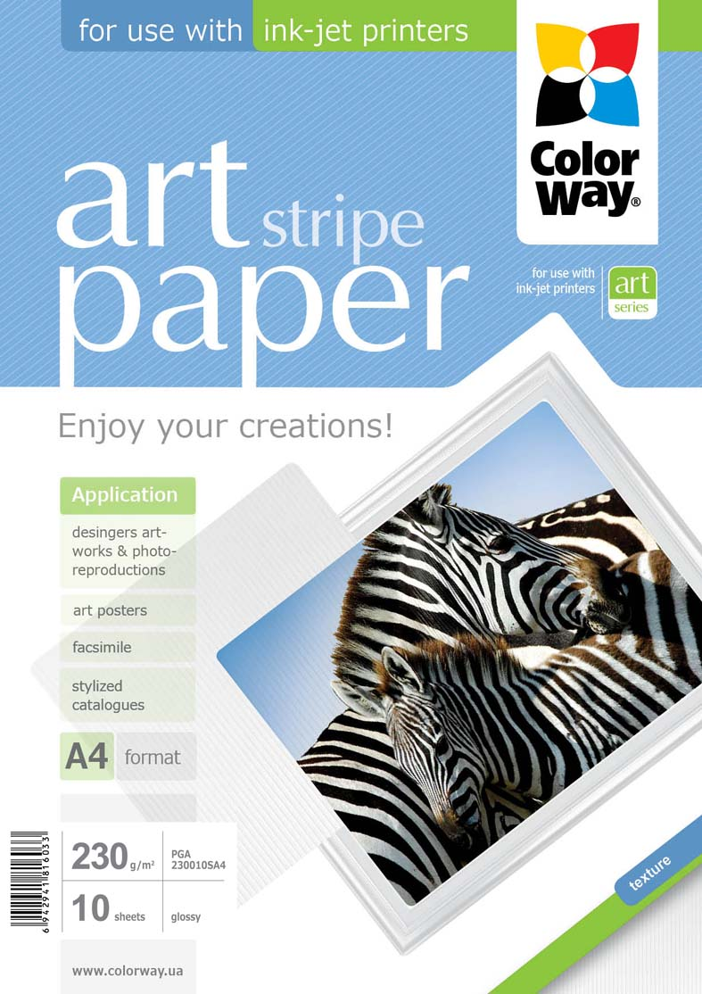 ColorWay Papier Foto Błyszczący Prążki A4 230g