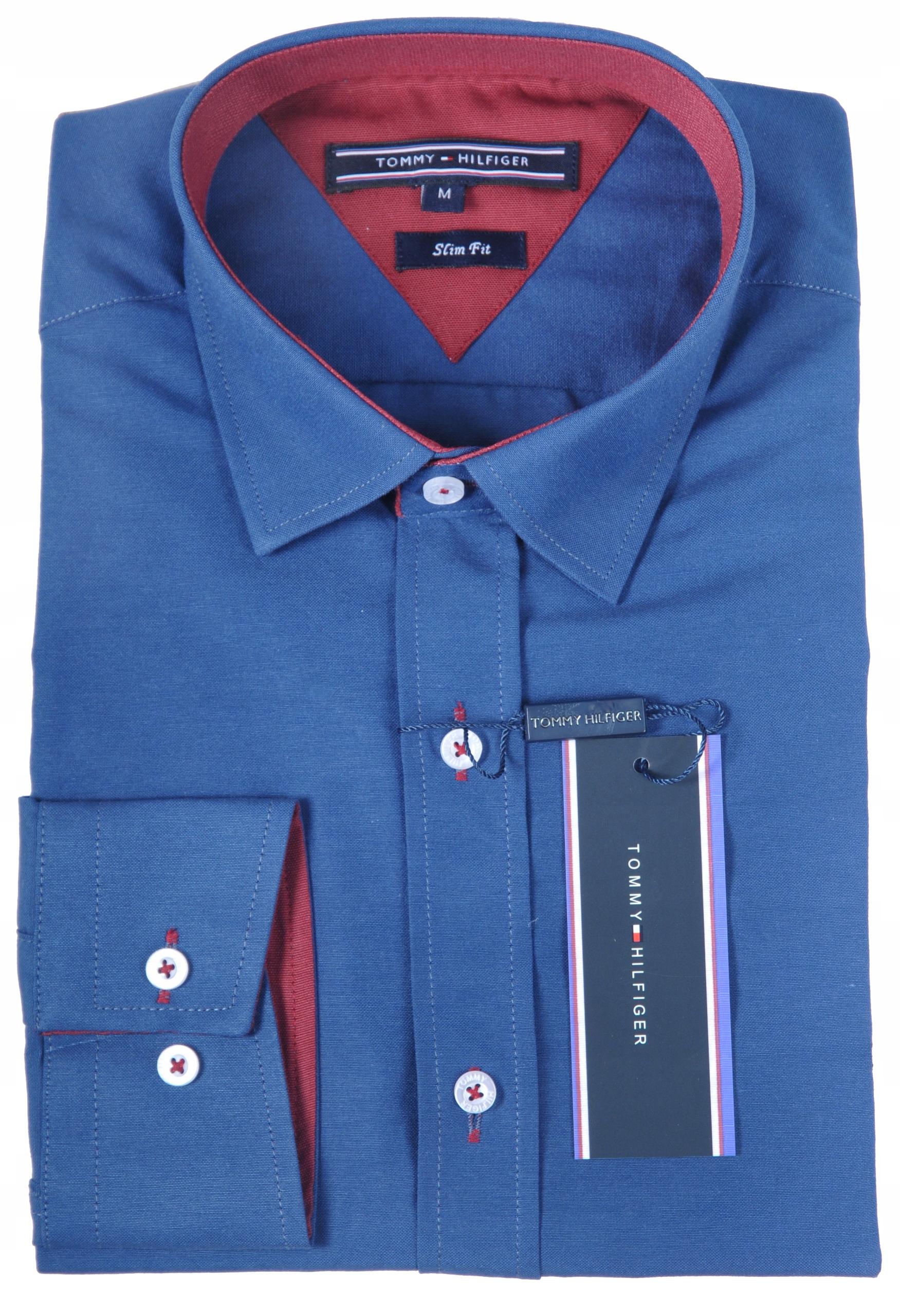 0524bc78c Koszula męska Tommy Hilfiger GRANATOWA Slim Fit M - 7701255499 ...