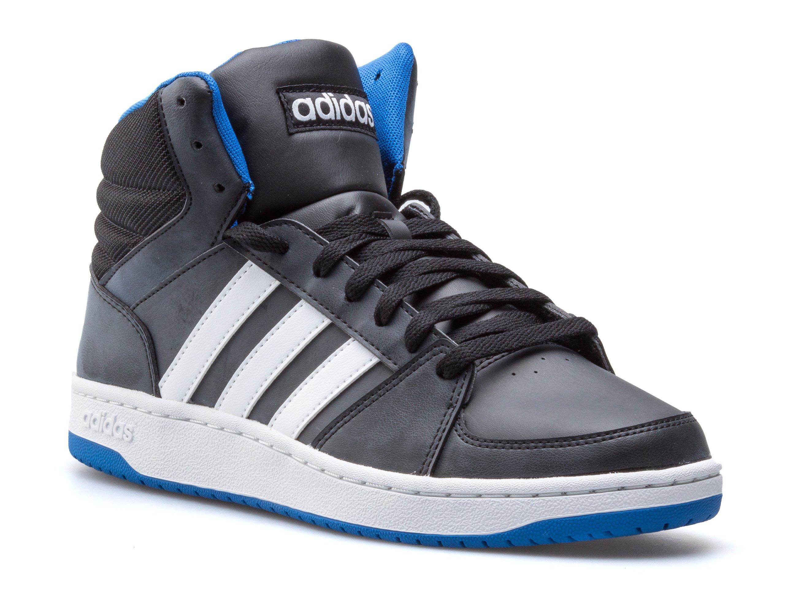 Męskie Adidas VS Hoops Mid Szare Obuwie Za Kostkę Buty