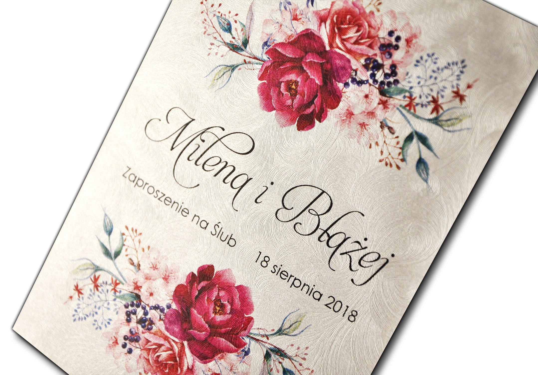 Zaproszenia ślubne Rustykalne W Oficjalnym Archiwum Allegro