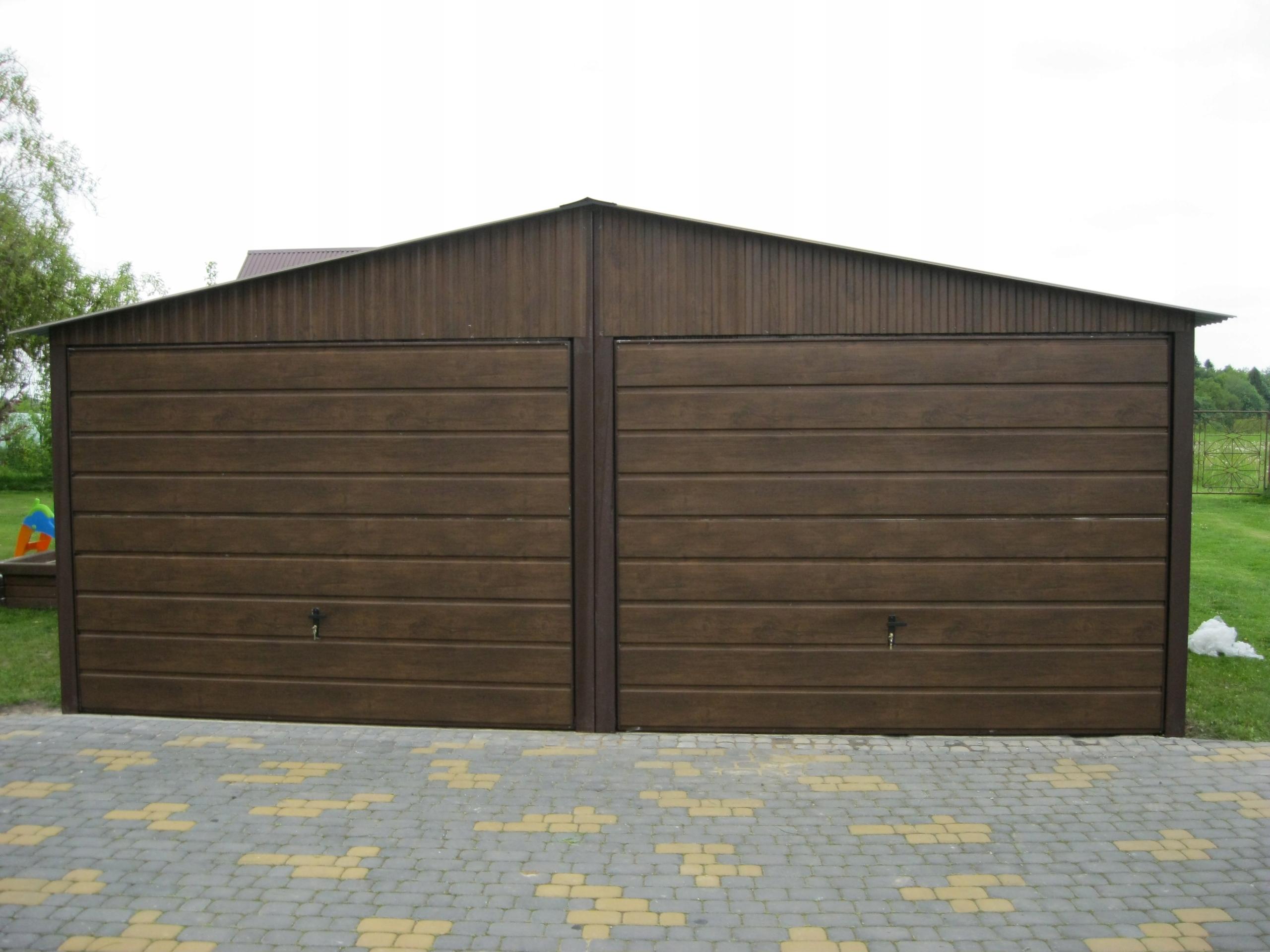 Garaże Blaszane 6x5 Garaż Blaszany Orzech łódzkie 7625281107