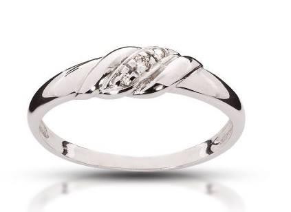 Pierścionek Zaręczynowy Z Brylantami Białe Złoto 7135172955