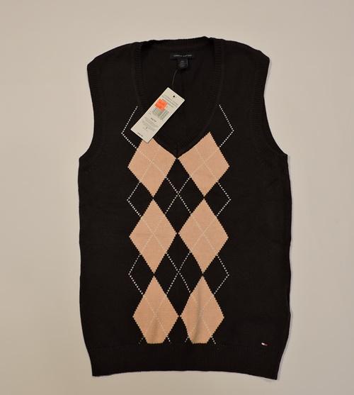 865ddbd304cda TOMMY HILFIGER sweter bezrekawnik XS - 7103607696 - oficjalne ...