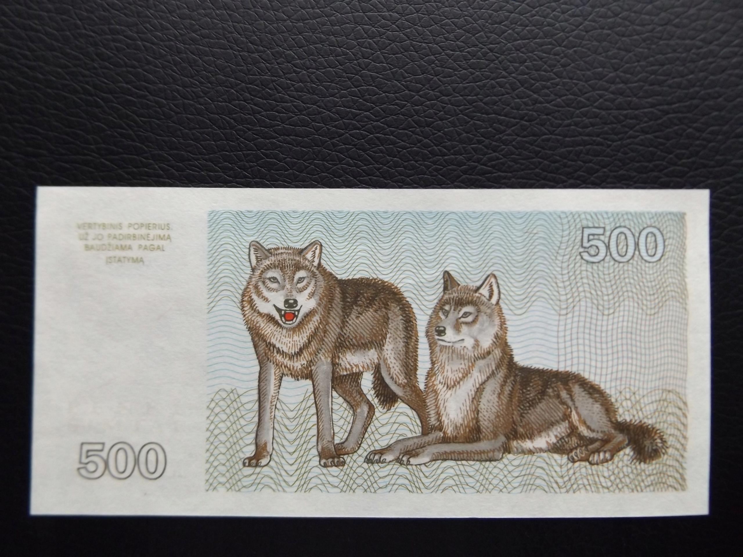 LITWA 500 TALONU WILKI 1993 r. PIĘKNY STAN UNC