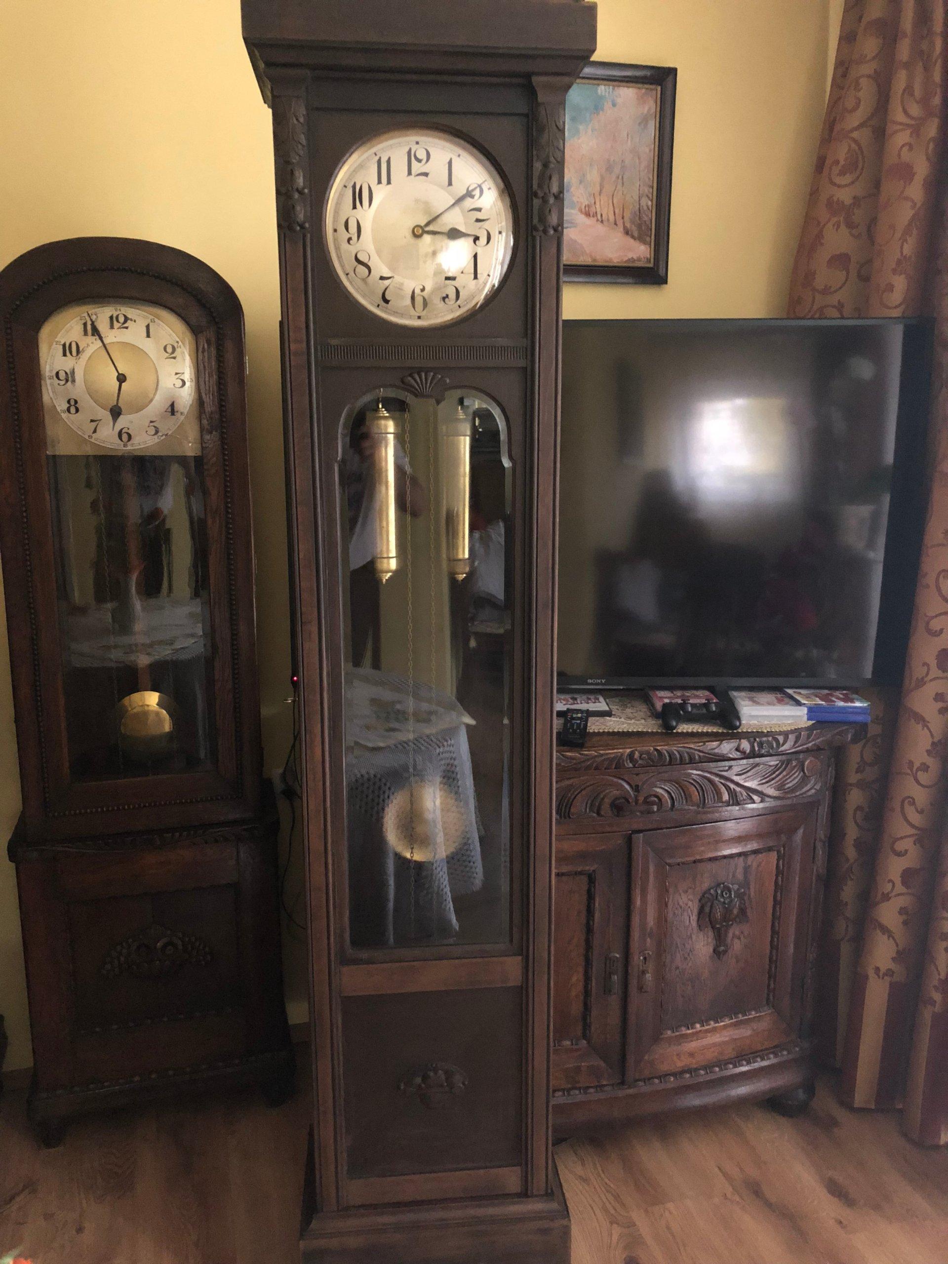 Stary Zegar Stojący Junghans Z 1890 Antyk 7236867551