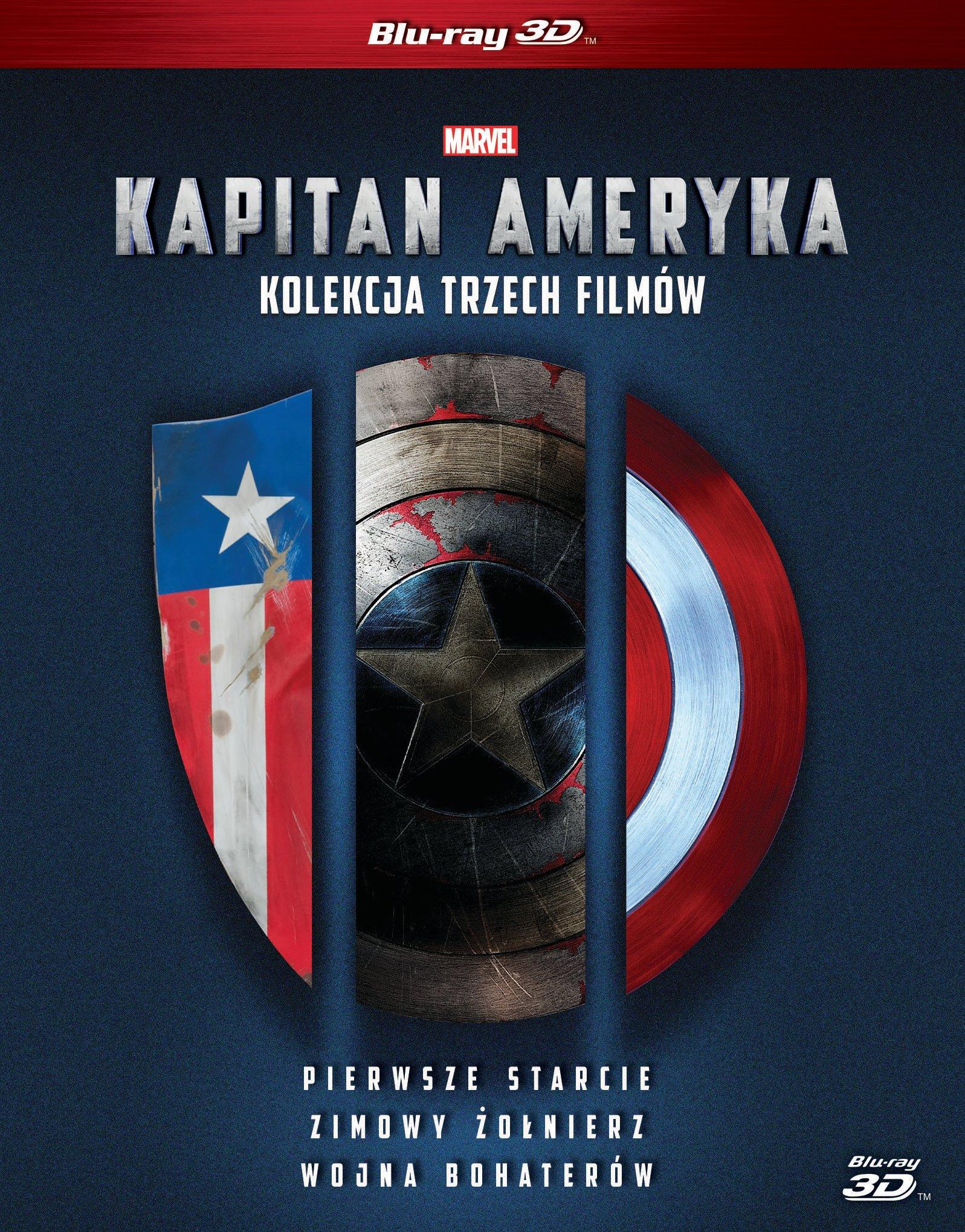 Kapitan Ameryka Trylogia BLU-RAY 3D