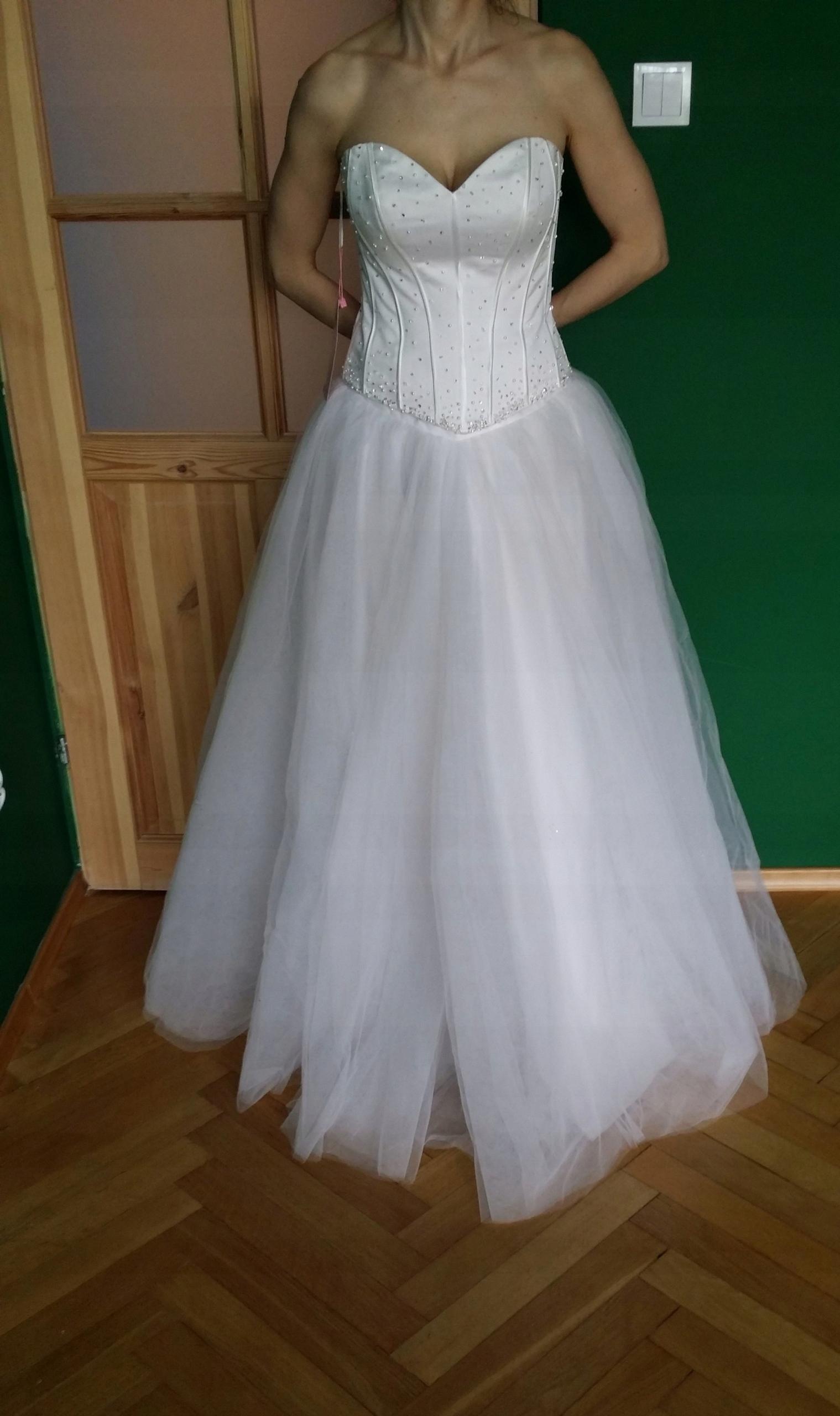 Suknia ślubna Biała Angel 7583226780 Oficjalne Archiwum Allegro