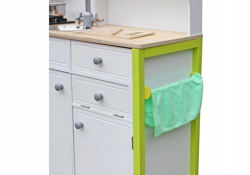 Drewniana Kuchnia Dla Dzieci Zielono Biała Nowość
