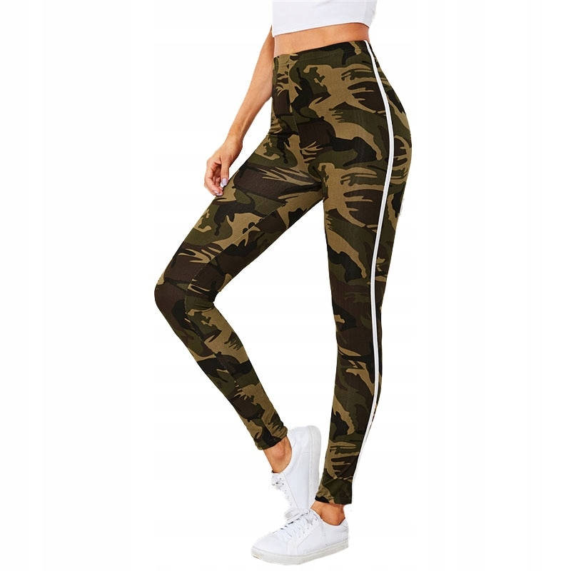 f6edd623385af6 legginsy spodnie damskie moro kamuflaż M - 7726895715 - oficjalne ...