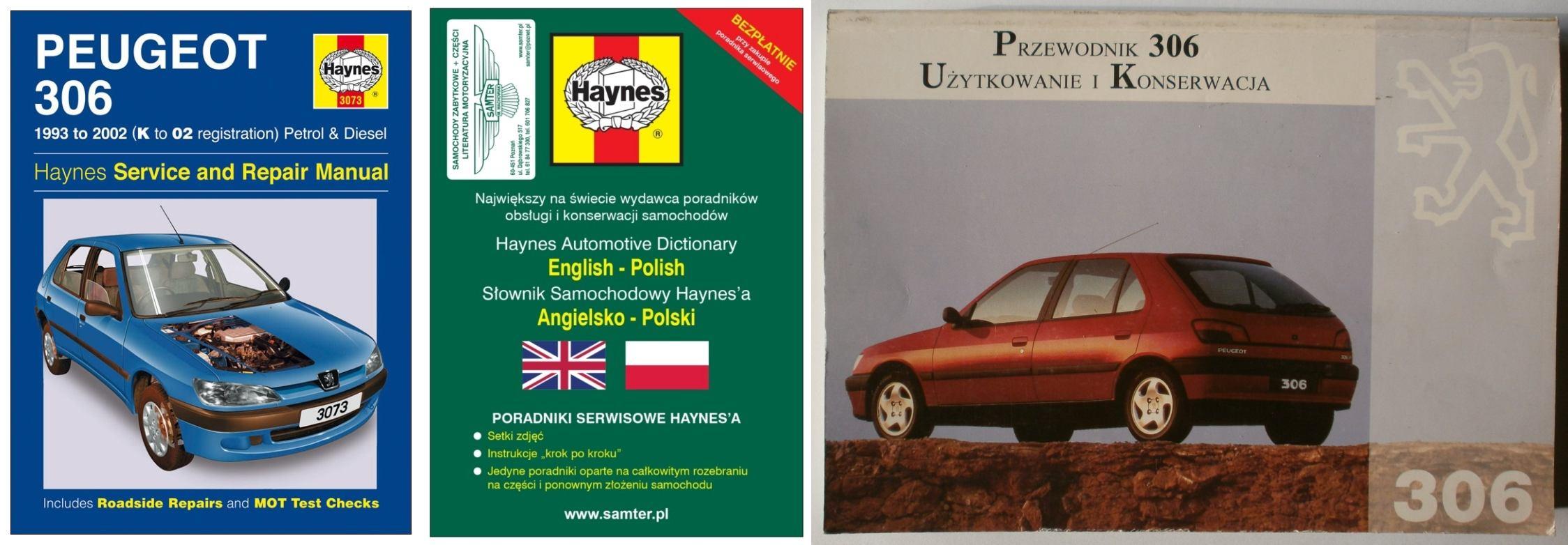 K to 02 Workshop Manual 1993-2002 3073 PEUGEOT 306 Petrol and Diesel