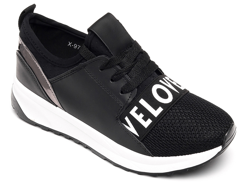 Buty sportowe damskie Ideal Shoes X 9703 Czarne 40