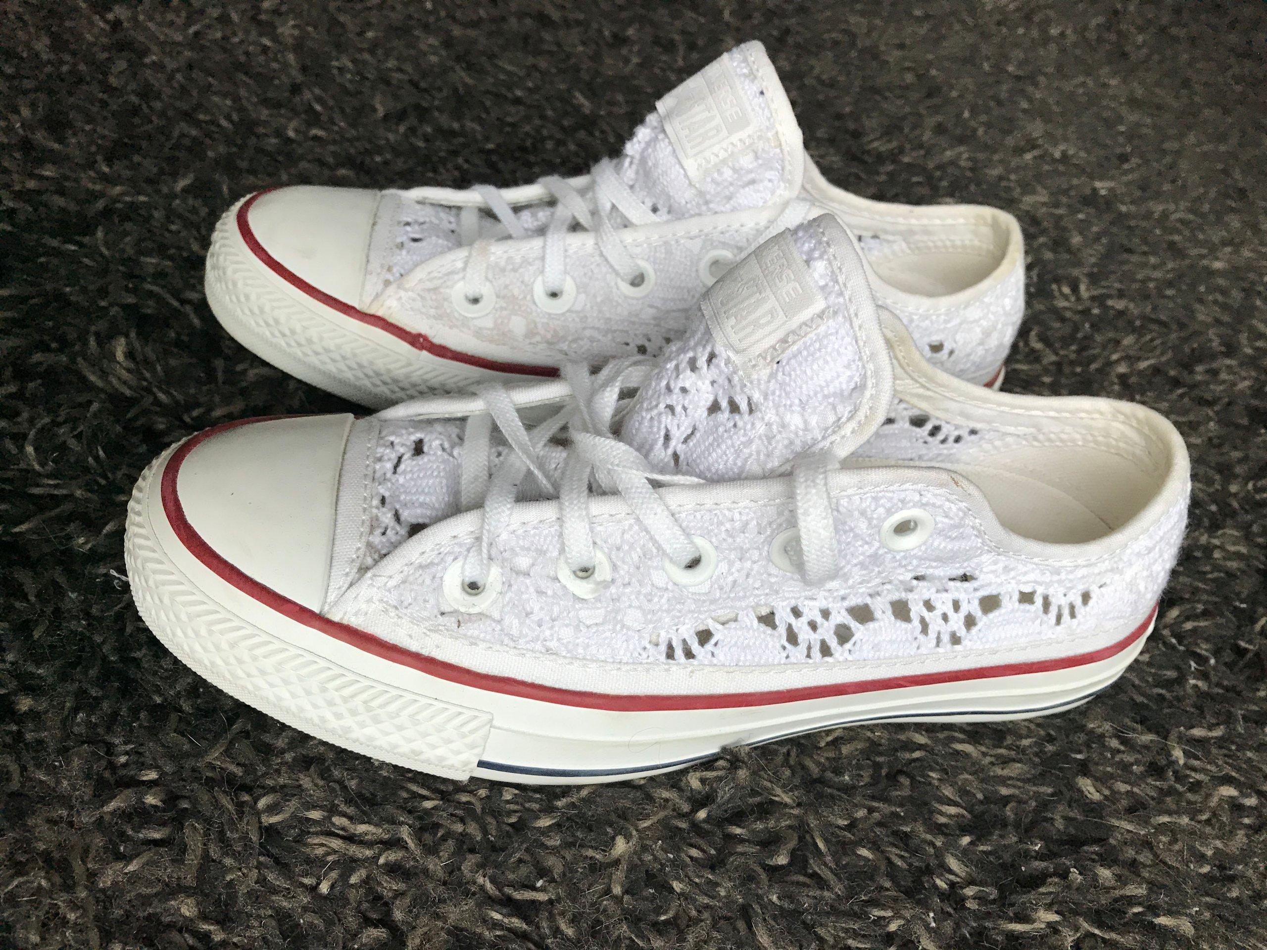wielka wyprzedaż uk tania wyprzedaż usa sprzedawane na całym świecie TRAMPKI buty CONVERSE koronkowe biale PROMOCJA 36 ...