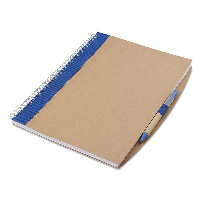 Notes A4 z długopisem  PAPIROS niebieski