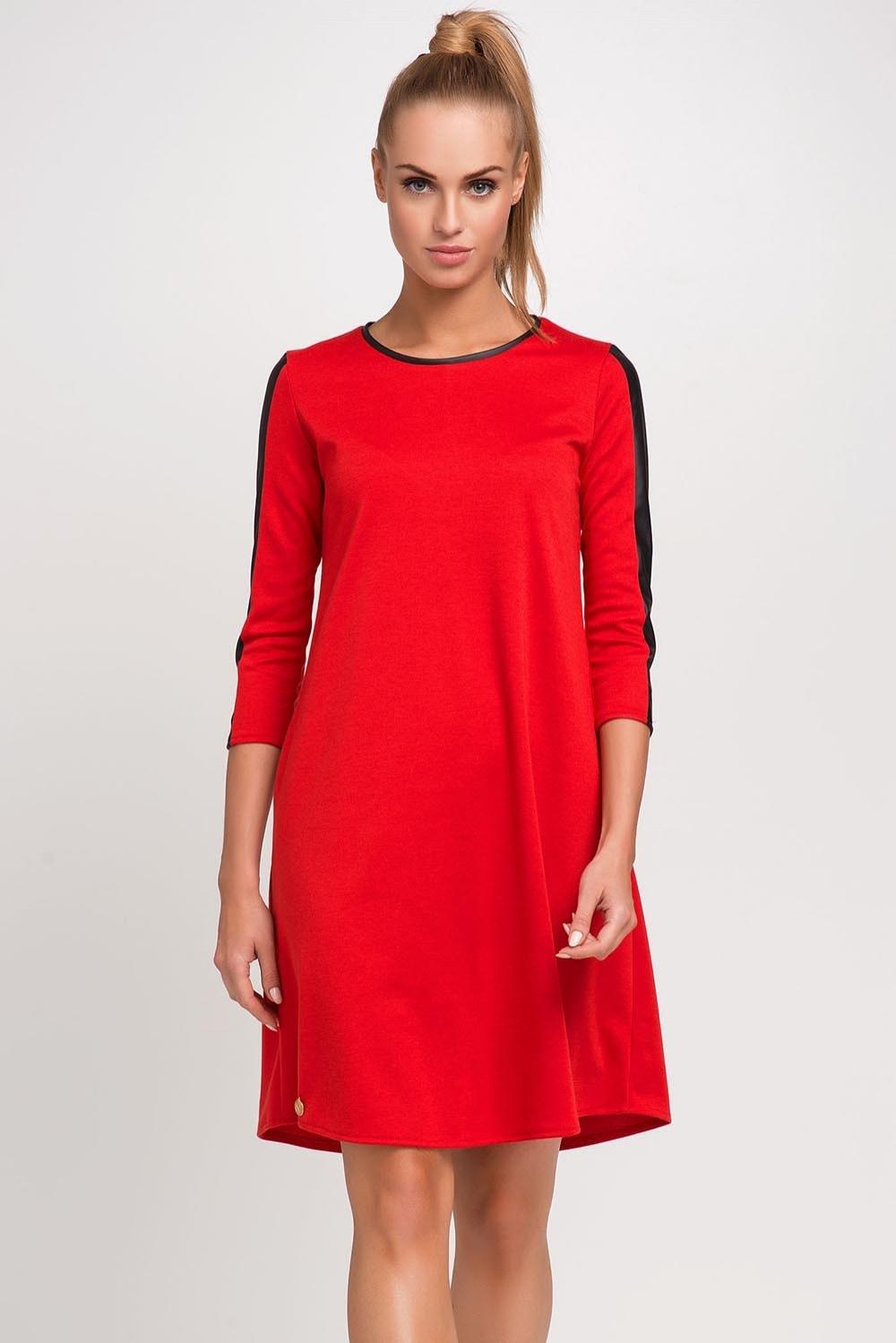 98a6a0ad1c Czerwona sukienka marki Makadamia r.46 - 7056908866 - oficjalne archiwum  allegro