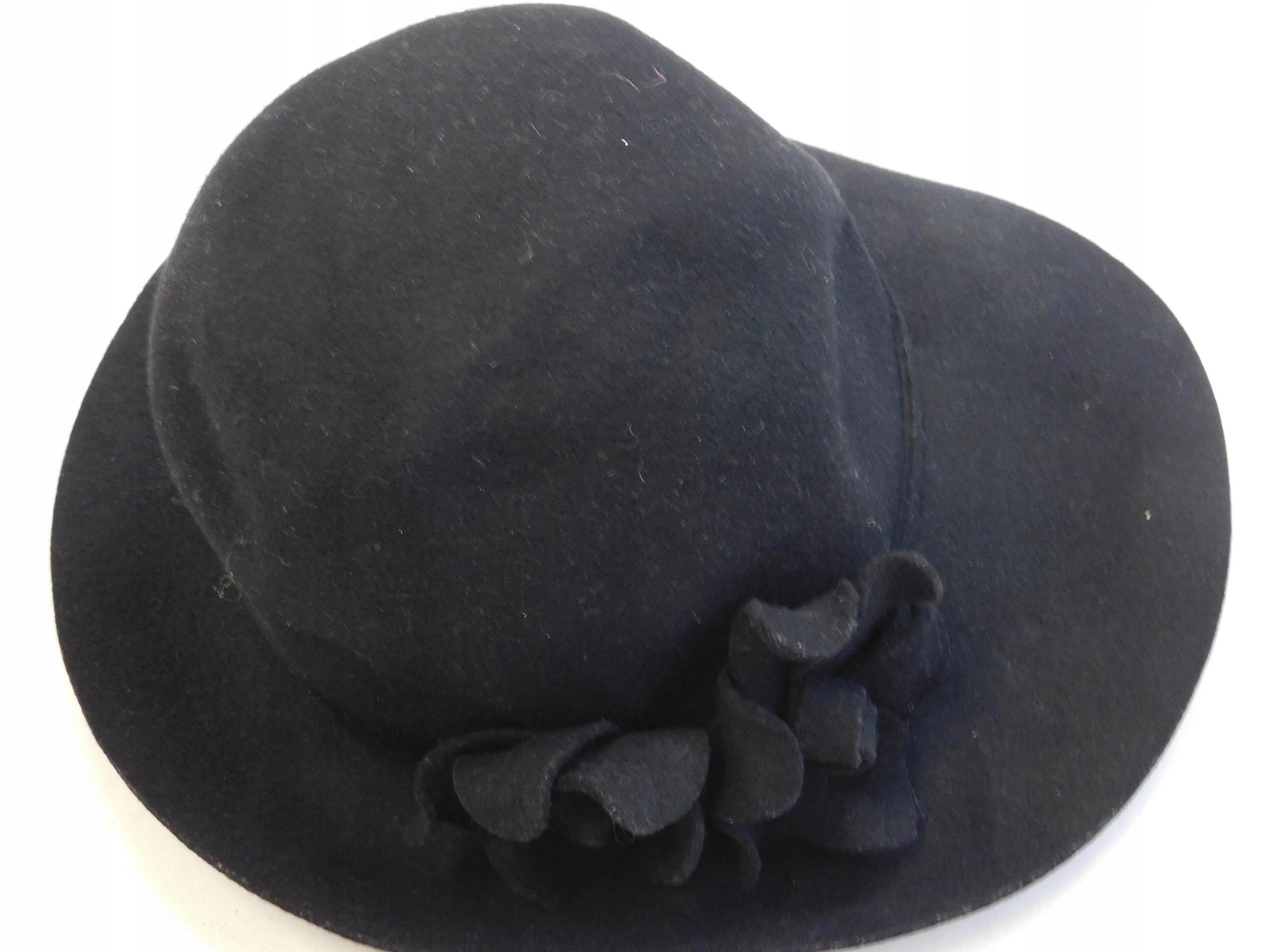 0612bt115 marks&spencer WEŁNIANY kapelusz_M/L