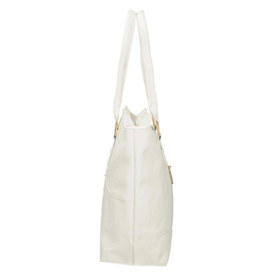 664edf55b6152 Klasyczna torebka damska w kolorze białym DANBLINI - 7554313535 ...