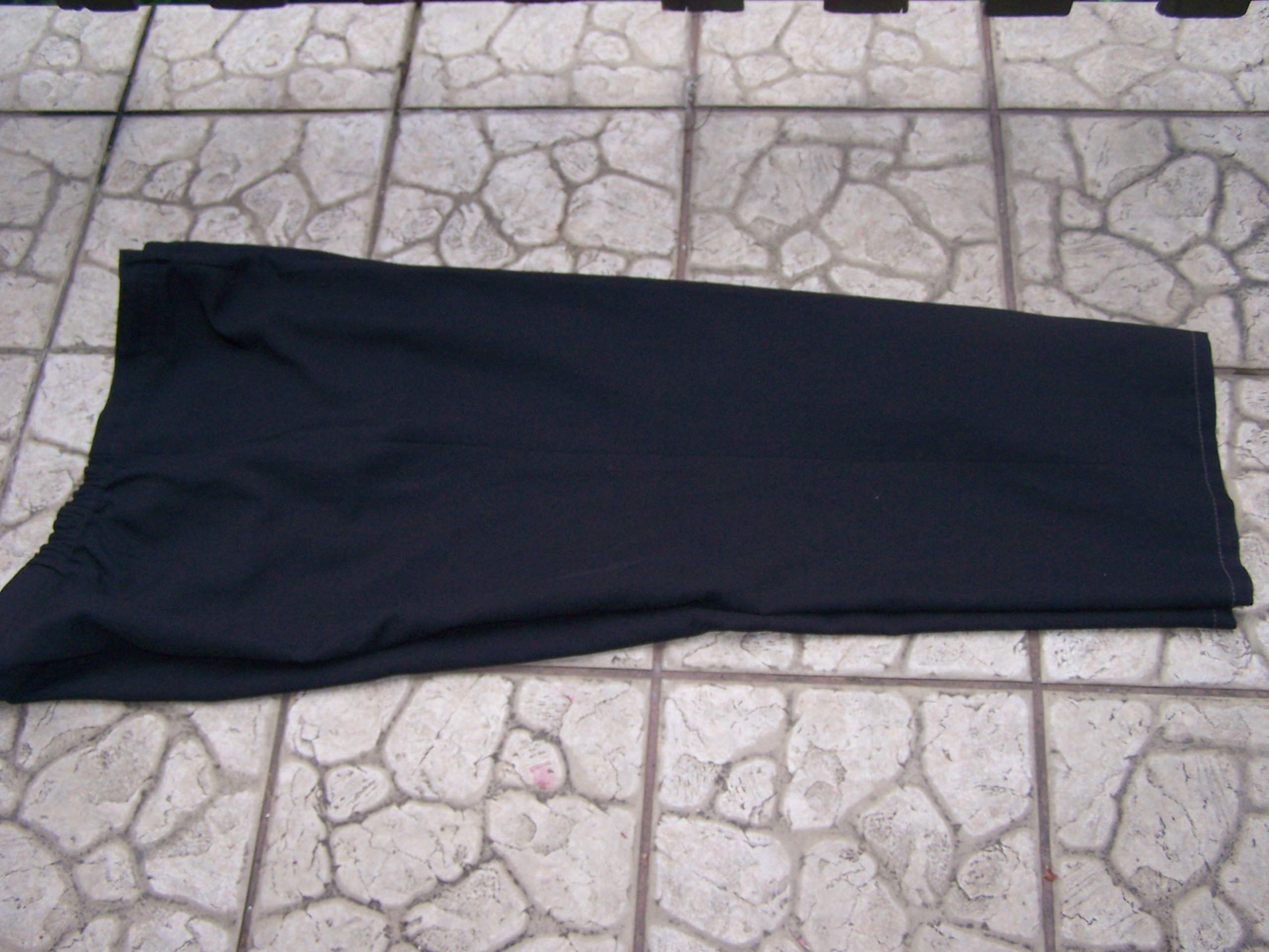 54/56/58 spodnie czarne długie proste na zamek
