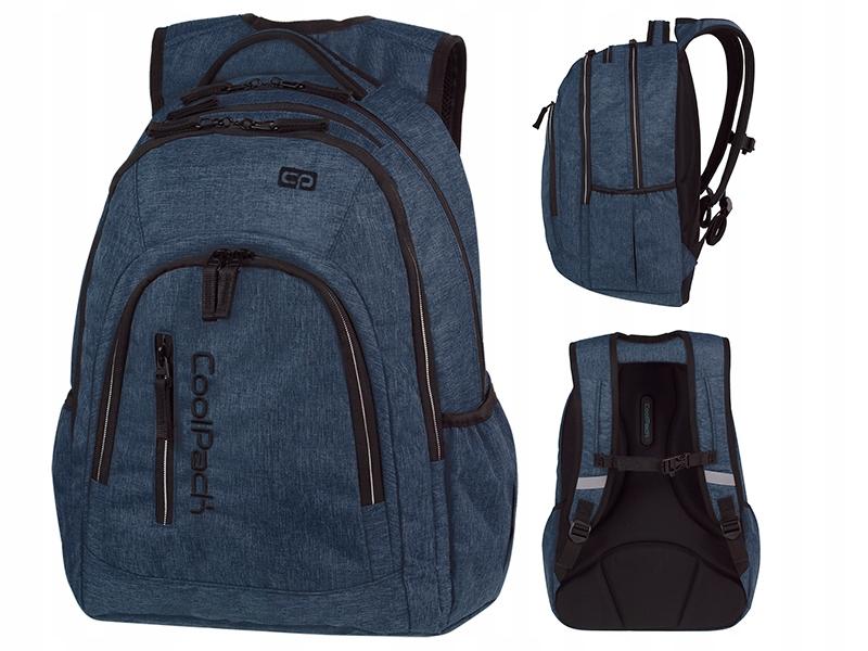 b041e1b168de7 COOLPACK MERCATOR Plecak szkolny SNOW BLUE NIEBIES - 7370361258 ...