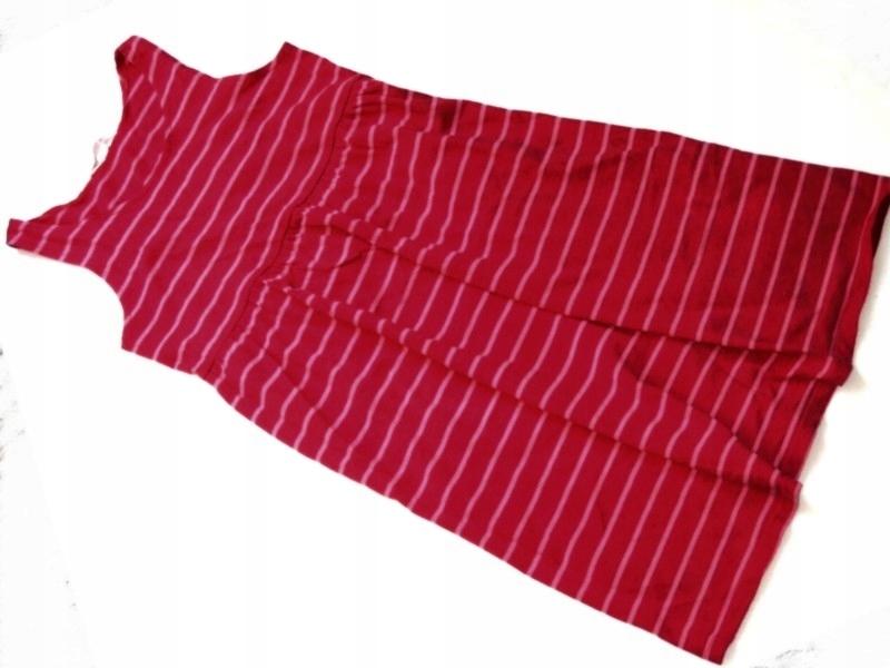 8d79a50622 HM malinowa sukienka tunika w róż paseczki 122 128 - 7439605658 ...