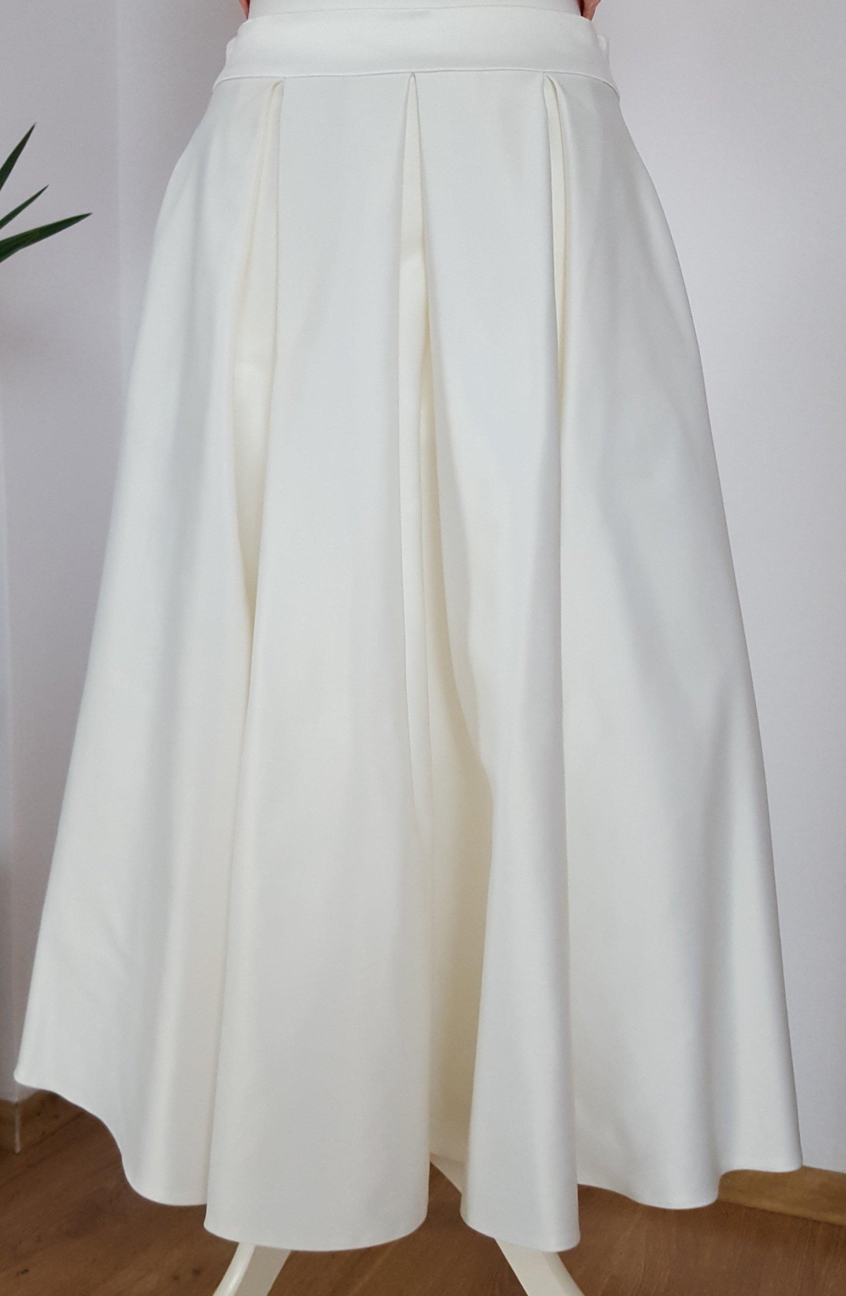 Rewelacyjny Biała rozkloszowana długa spódnica atłas MOHITO - 7017768353 SD45