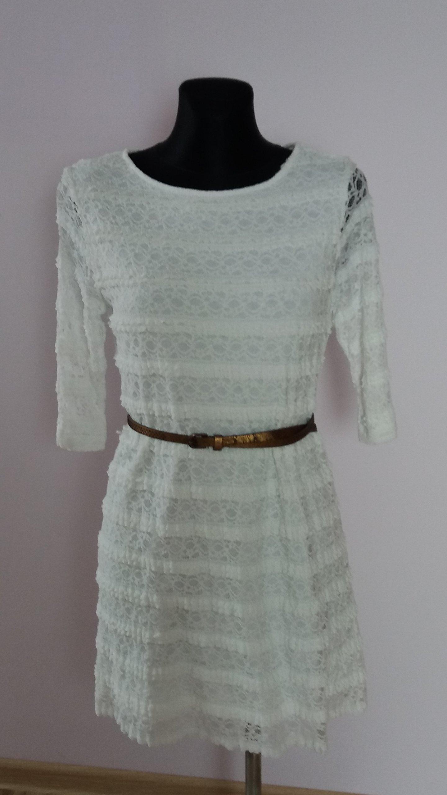 2ee5ef6c90 koronkowa sukienka z paskiem rozm. 36 38 - 7017285284 - oficjalne ...