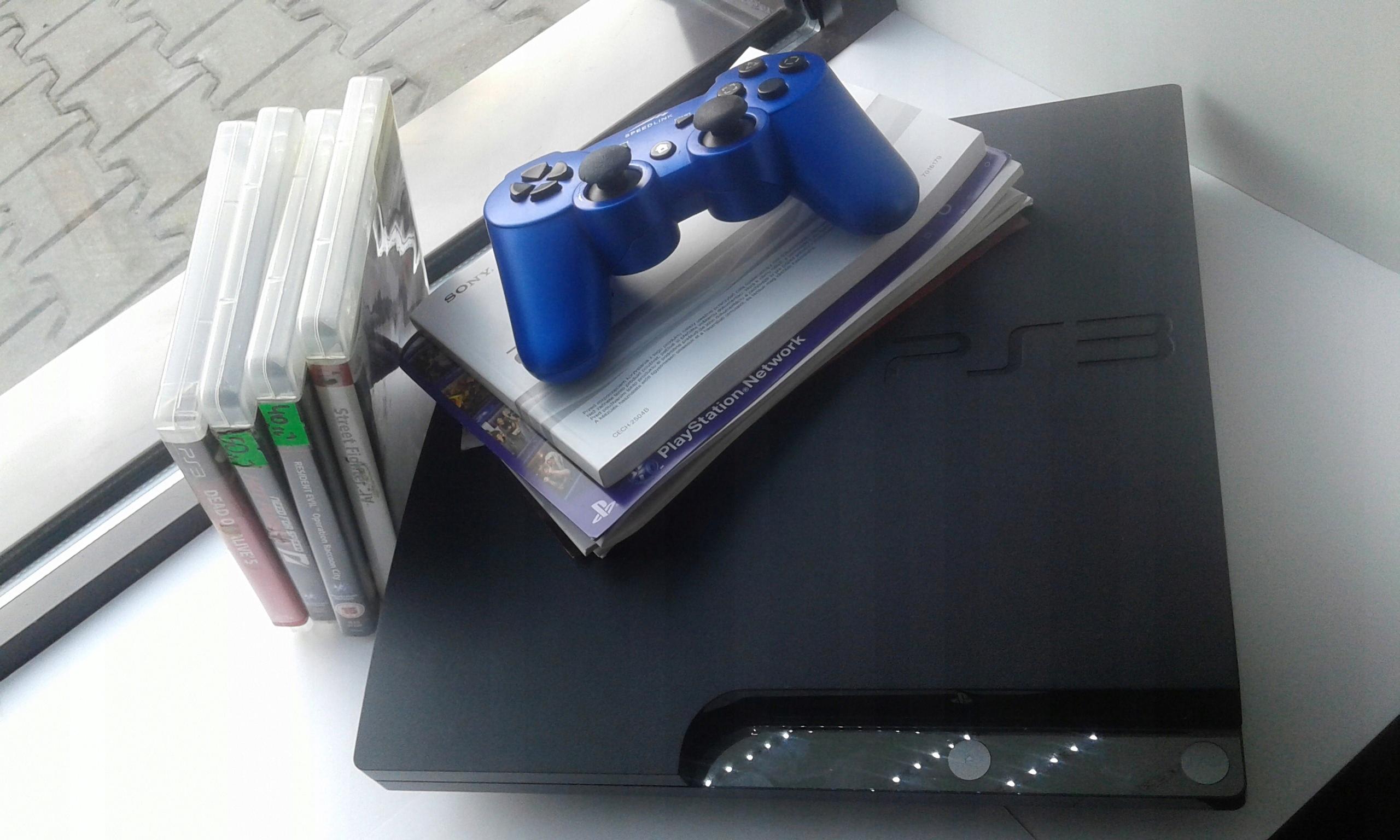 PS3 cech-2504b 320GB +1pad+okablowanie+4gry 356/18
