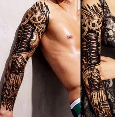Tatuaż Rękaw Naklejka Wytrzymała 01