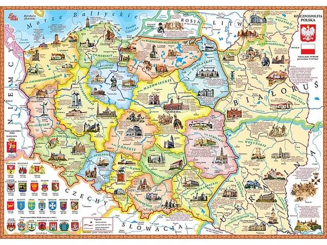 Puzzle Mapa Polski Elementy W Kształcie Regionów 7489494468