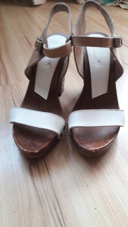 W Mega VENEZIA sandały drewniane 36 - 7457941177 - oficjalne archiwum allegro IQ79