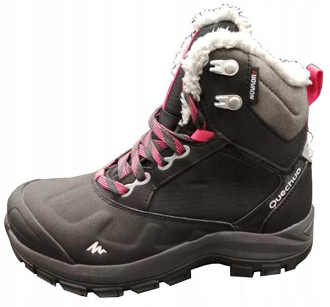 5af4fac6 QUECHUA BUTY ZIMOWE Damskie 37 trekkingowe ciepłe - 7008243166 ...