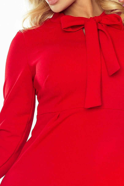 589305e23c OLA sukienka trapezowa z wiązaniem czerwona L 40 - 7535849036 ...