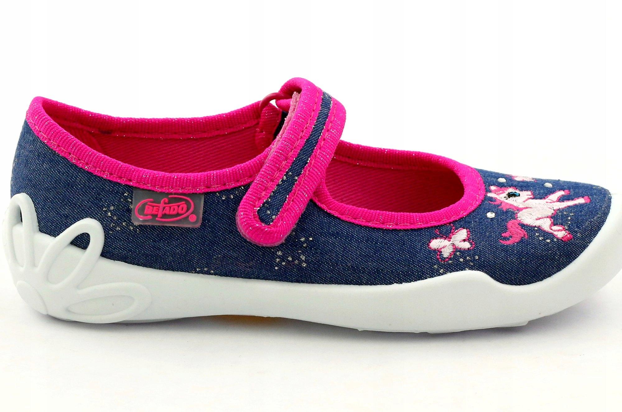Różowe Tekstylne Buty Dla dzieci Raweks rozmiar 21