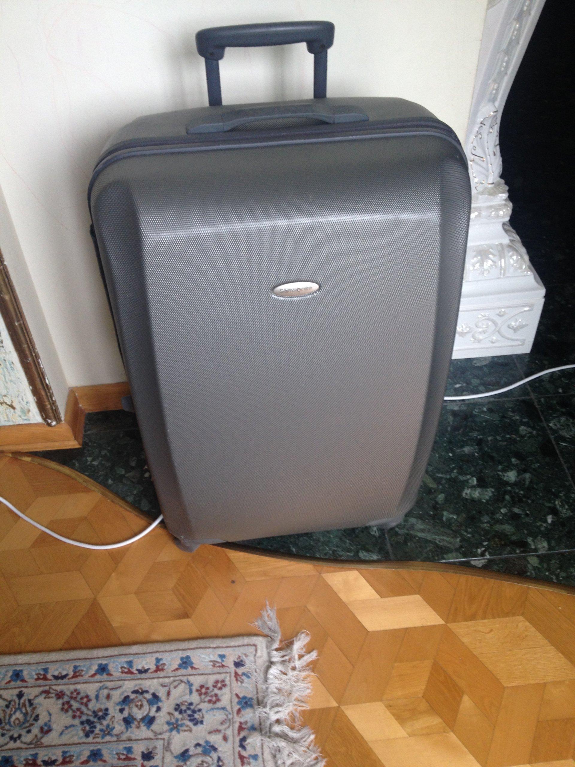 bee3c8dfc63a6 Walizka bagaż SAMSONITE na kółkach - 7352179752 - oficjalne ...