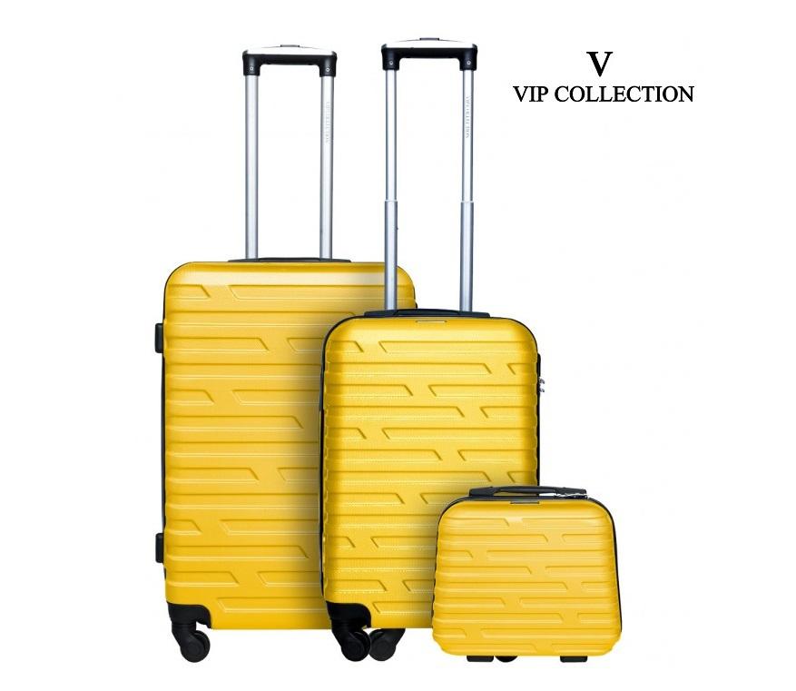 0525087c428c5 VIP COLLECTION WALIZKI ZESTAW 3 CZ. COS-3 yellow - 7340559878 ...