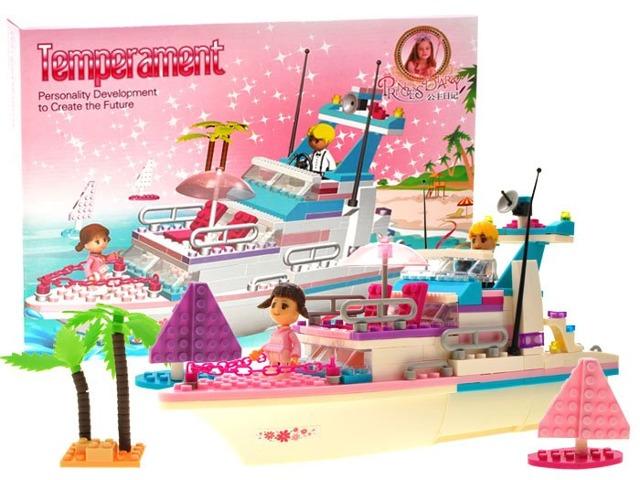 Zestaw Klocki Statek Jacht 300 El Dla Dziewczynek 7030849578