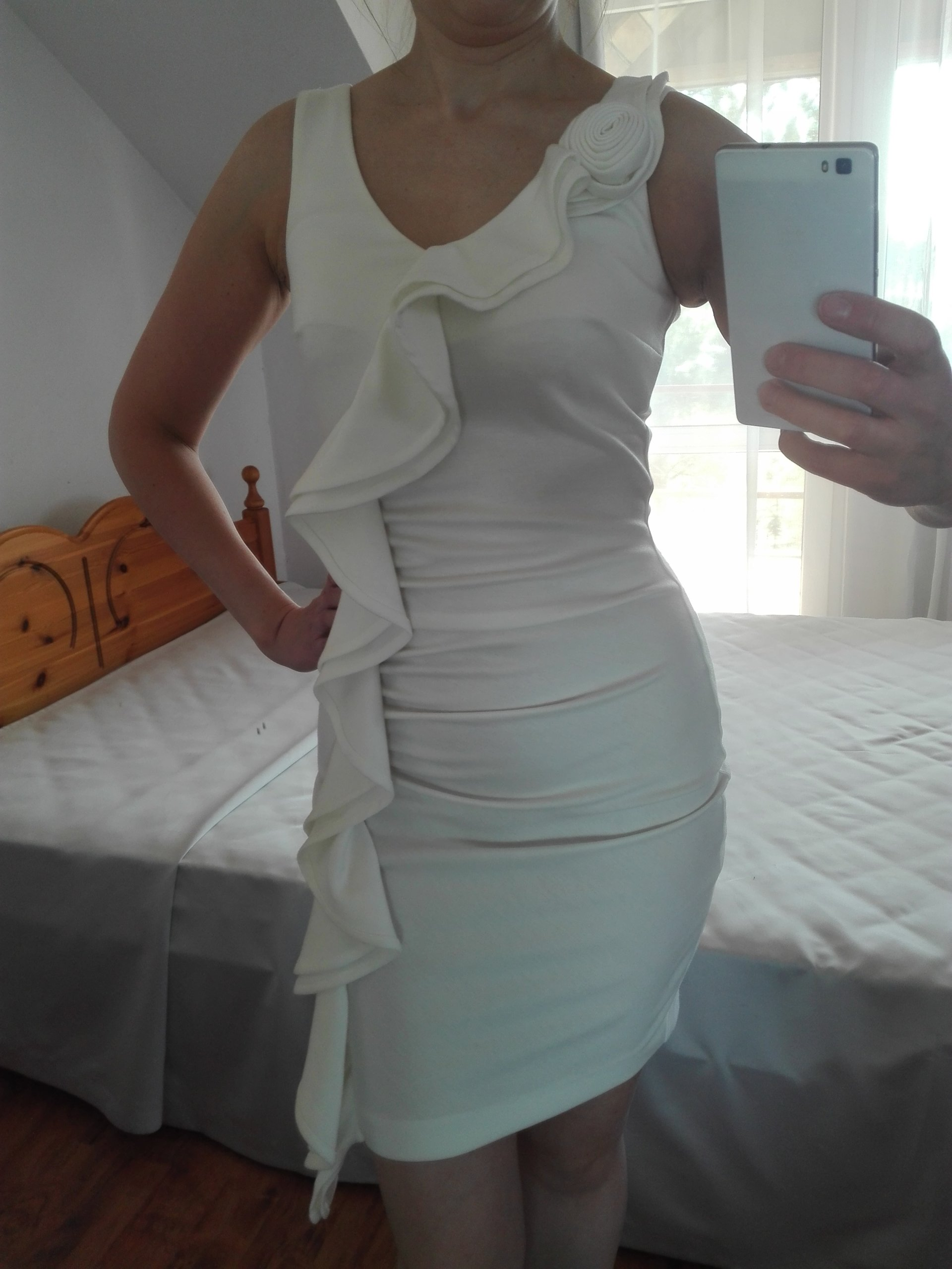 d404c58ffb sukienka biała 36 S na komunię wesele Pretty Girl - 7332891562 ...