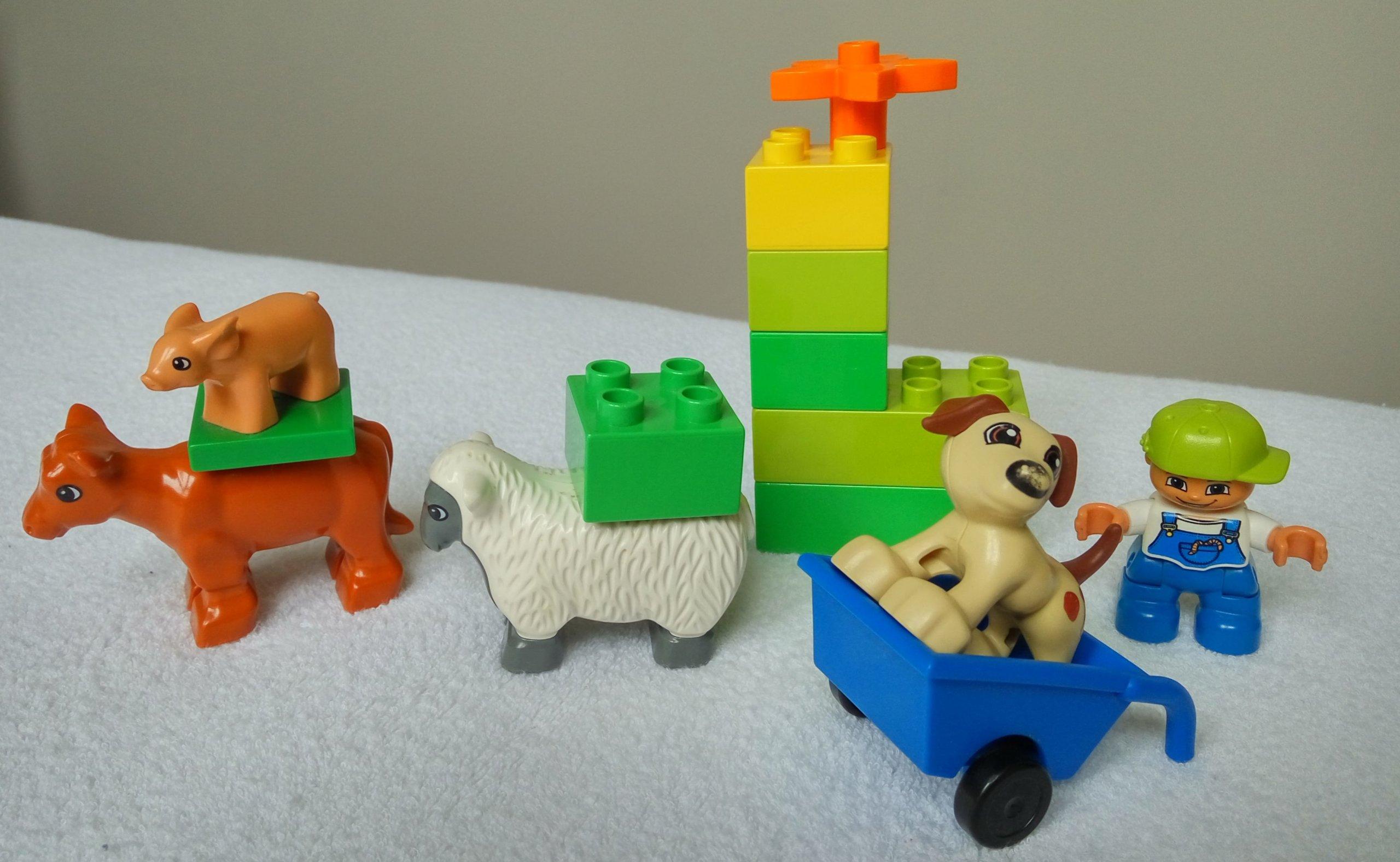 Duplo Zwierzęta Na Farmie Farmer Owca świnka Pies 7143515023