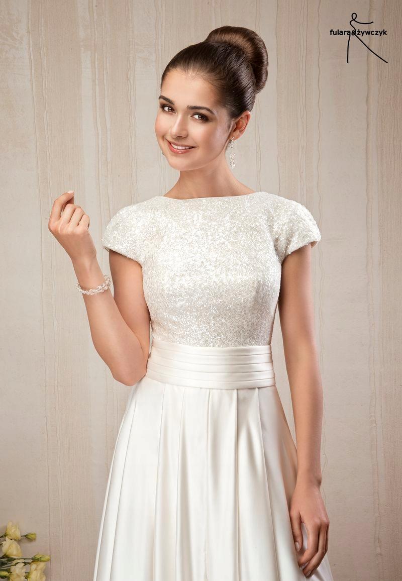 10793dda4f Suknia ślubna Fularażywczyk Wyprzedaż 80 6787164408 Oficjalne