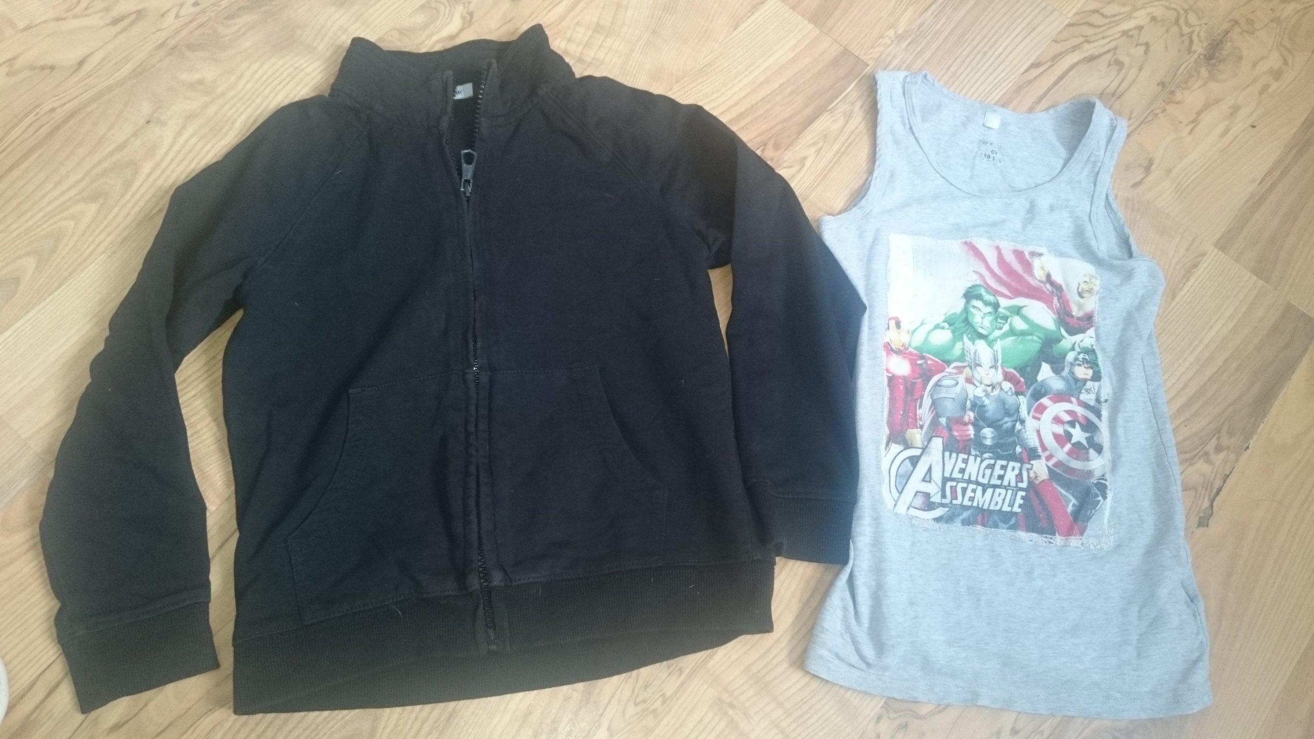 d38fc10736 Bluza na suwak 110-116 George +koszula Marvel - 7240398631 ...